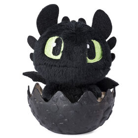 How To Train Your Dragon, Baby Toothless 3-inch Plush, Cute Collectible Plush Dragon in Egg