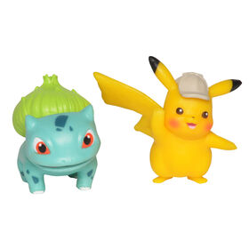 "Detective Pikachu Battle Figure Packs - 2"" Pikachu #2 & 2"" Bulbasaur"
