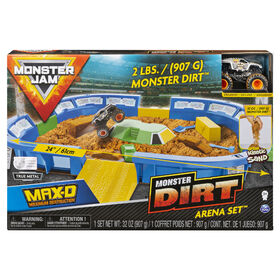 Monster Jam, Monster Dirt Arena 24-Inch Playset and Monster Dirt with Exclusive 1:64 Scale Die-Cast Monster Jam Truck