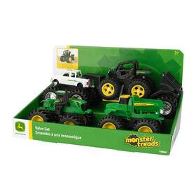 John Deere Monster Treads 5 Piece Toy Vehicle Value Set.