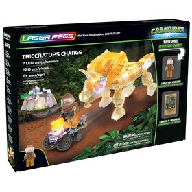 Laser Pegs Creatures Collection - Triceratops Charge