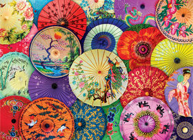 Eurographics Asian Oil-Paper Umbrellas 1000 Piece Puzzle