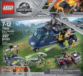 LEGO Jurassic World La poursuite en hélicoptère de Blue 75928