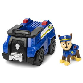 PAW Patrol, Chase's Patrol Cruiser Vehicle with Collectible Figure