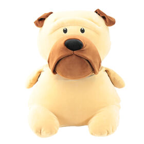 Animal Adventure Squeeze with Love - Plush Pug - Tan
