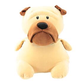 Animal Adventure Squeeze with Love - Jumbo Plush Pug - Tan
