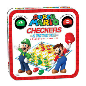 Checkers & Tic Tac Toe: Super Mario Collector's Game Set