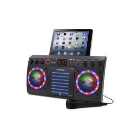 iKARAOKE Système de karaoké CD+G avec Bluetooth, Noir