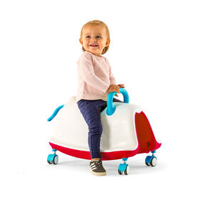 TRACKIE: 3 in 1 Walker, Rocker and Ride On - Red