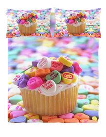Gouchee Design - Cupcake Digital Print Queen Duvet Cover Set