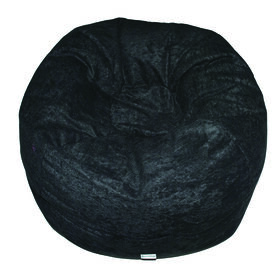 Boscoman - Faux Suede Bean Bag - Black