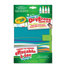 Crayola - Dry Erase Travel Case with Markers