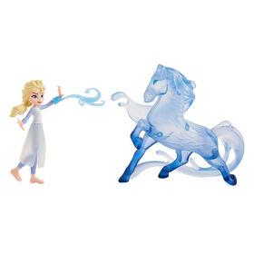 Disney Frozen - Minipoupée Elsa avec figurine Nokk