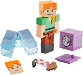 Minecraft Comic Maker Alex with Elytra Action Figure - English Edition