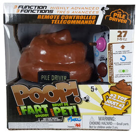 Monzoo - R/C Pile Driver - Poop! with Fart Sound! 27MHZ