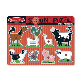 Melissa & Doug - Sound Puzzle - Farm Animals