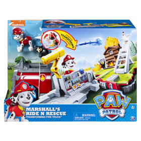 PAW Patrol, Marshall's Ride 'n' Rescue, Transforming 2-in-1 Playset and Fire Truck